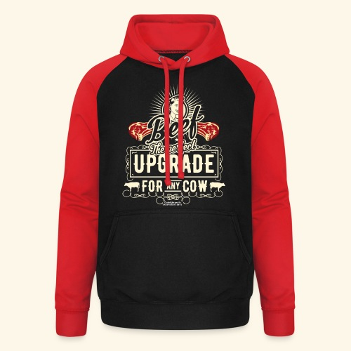 Lustiges Grill T Shirt Beef Is The Perfect Update  - Unisex Baseball Hoodie