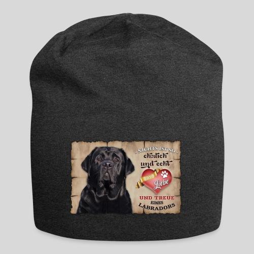 Schwarzer Labrador Retriever Liebe & Treue - Jersey-Beanie