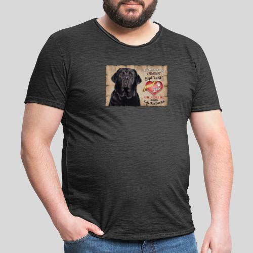 Schwarzer Labrador Retriever Liebe & Treue - Männer Vintage T-Shirt