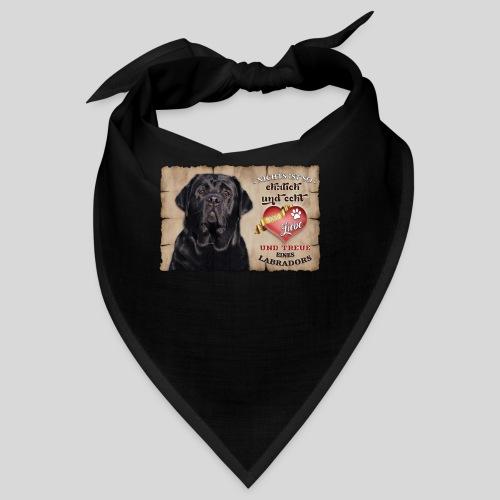 Schwarzer Labrador Retriever Liebe & Treue - Bandana