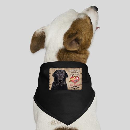 Schwarzer Labrador Retriever Liebe & Treue - Hunde-Bandana