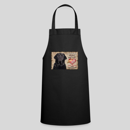 Schwarzer Labrador Retriever Liebe & Treue - Kochschürze