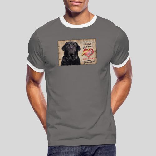 Schwarzer Labrador Retriever Liebe & Treue - Männer Kontrast-T-Shirt