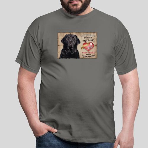 Schwarzer Labrador Retriever Liebe & Treue - Männer T-Shirt