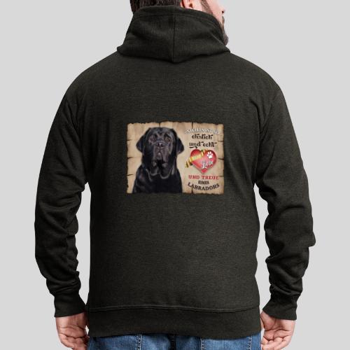 Schwarzer Labrador Retriever Liebe & Treue - Männer Premium Kapuzenjacke