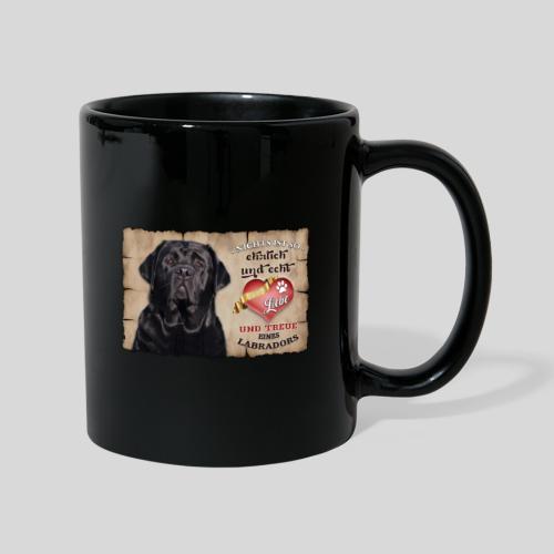 Schwarzer Labrador Retriever Liebe & Treue - Tasse einfarbig