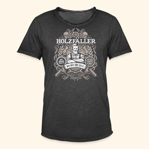Holzfäller T Shirt - Männer Vintage T-Shirt