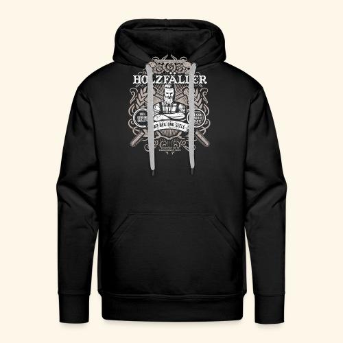 Holzfäller T Shirt - Männer Premium Hoodie