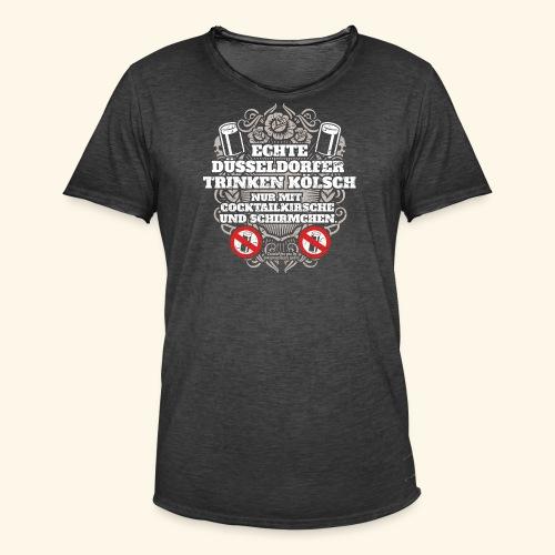 Düsseldorf T Shirt Spruch Echte Düsseldorfer T-Shirts - Männer Vintage T-Shirt