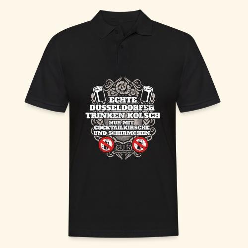 Düsseldorf T Shirt Spruch Echte Düsseldorfer T-Shirts - Männer Poloshirt