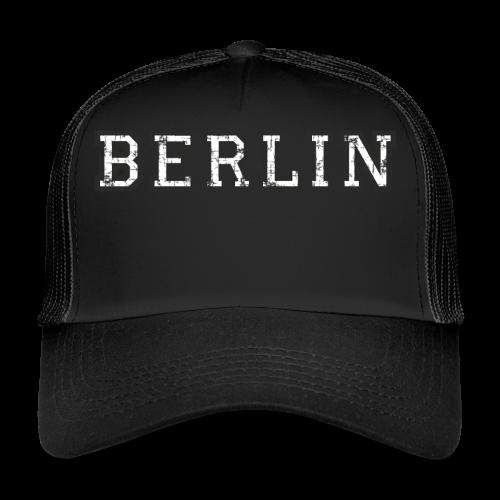Berlin Vintage (Schwarz/Weiß) - Trucker Cap