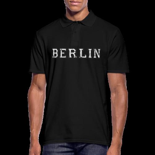 Berlin Vintage (Schwarz/Weiß) - Männer Poloshirt