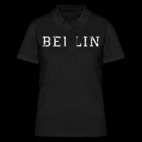 Berlin Vintage (Schwarz/Weiß) - Frauen Polo Shirt
