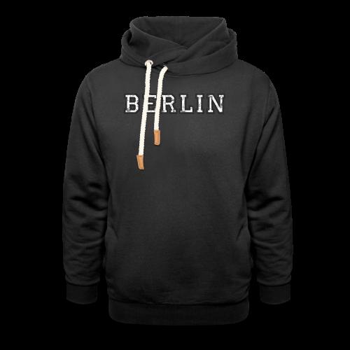 Berlin Vintage (Schwarz/Weiß) - Schalkragen Hoodie