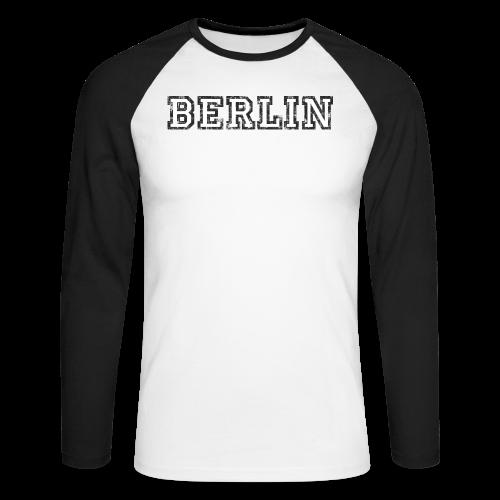 Berlin Vintage (Schwarz/Weiß) - Männer Baseballshirt langarm