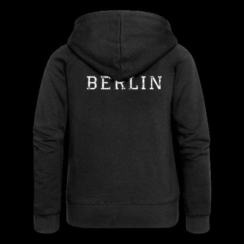 Berlin Vintage (Schwarz/Weiß) - Frauen Premium Kapuzenjacke