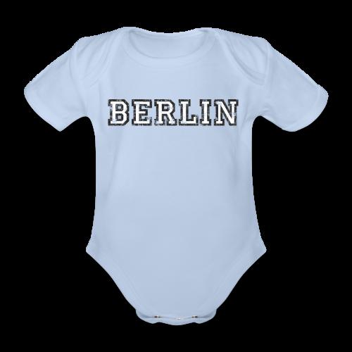 Berlin Vintage (Schwarz/Weiß) - Baby Bio-Kurzarm-Body