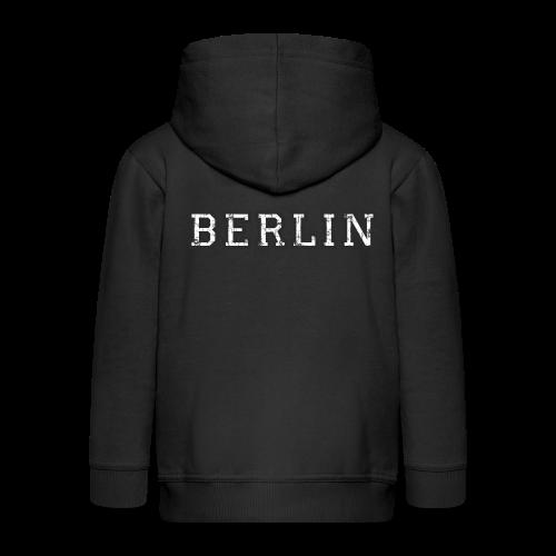 Berlin Vintage (Schwarz/Weiß) - Kinder Premium Kapuzenjacke