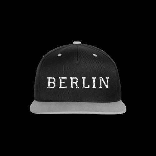 Berlin Vintage (Schwarz/Weiß) - Kontrast Snapback Cap