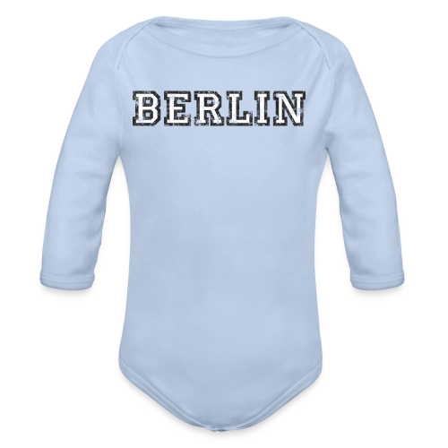 Berlin Vintage (Schwarz/Weiß) - Baby Bio-Langarm-Body