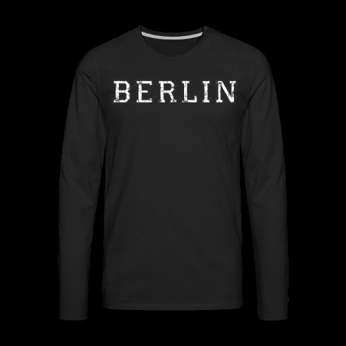Berlin Vintage (Schwarz/Weiß) - Männer Premium Langarmshirt
