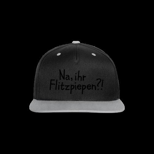 Na, ihr Flitzpiepen?! Witziger Berlin Spruch - Kontrast Snapback Cap