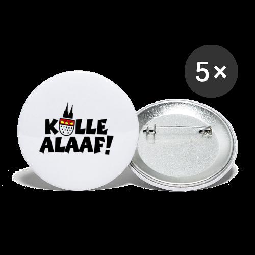 Kölle Alaaf Kölner Wappen Karneval in Köln  - Buttons groß 56 mm (5er Pack)
