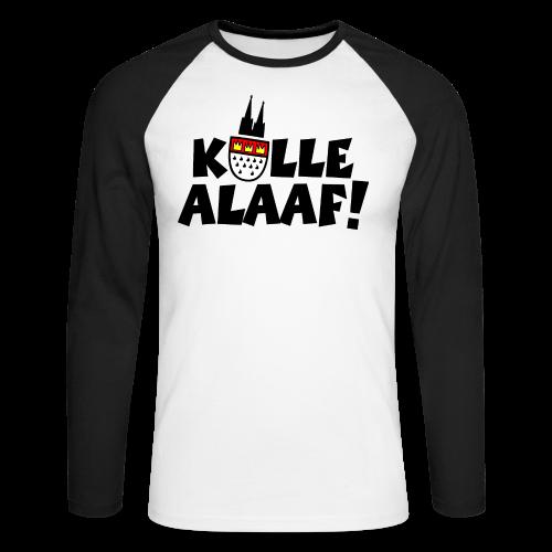 Kölle Alaaf Kölner Wappen Karneval in Köln  - Männer Baseballshirt langarm