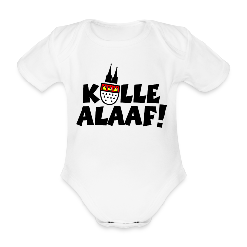 Kölle Alaaf Kölner Wappen Karneval in Köln  - Baby Bio-Kurzarm-Body