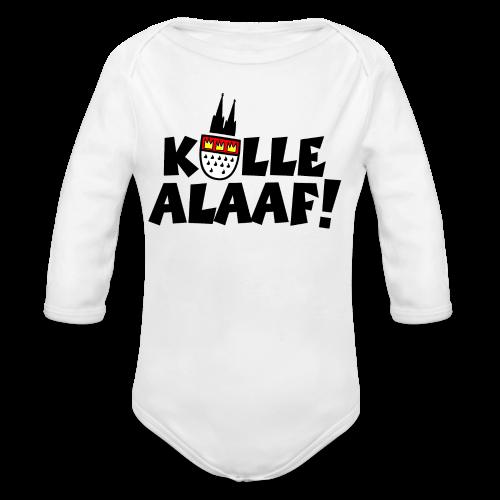 Kölle Alaaf Kölner Wappen Karneval in Köln  - Baby Bio-Langarm-Body