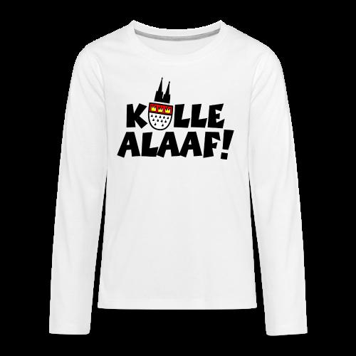 Kölle Alaaf Kölner Wappen Karneval in Köln  - Teenager Premium Langarmshirt