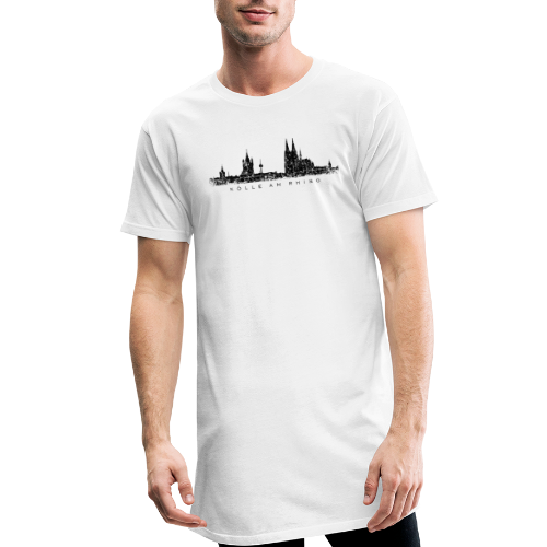 Kölle am Rhing Skyline (Vintage Schwarz) Köln am Rhein - Männer Urban Longshirt