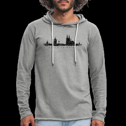 Kölle am Rhing Skyline (Vintage Schwarz) Köln am Rhein - Leichtes Kapuzensweatshirt Unisex