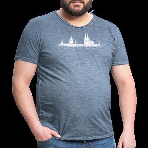 Kölle am Rhing Skyline (Vintage Weiß) Köln am Rhein - Männer Vintage T-Shirt