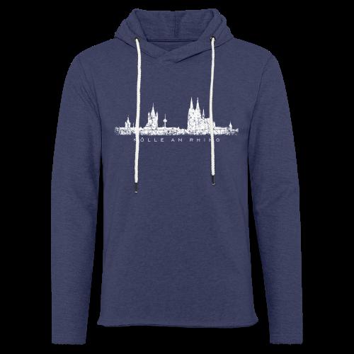 Kölle am Rhing Skyline (Vintage Weiß) Köln am Rhein - Leichtes Kapuzensweatshirt Unisex