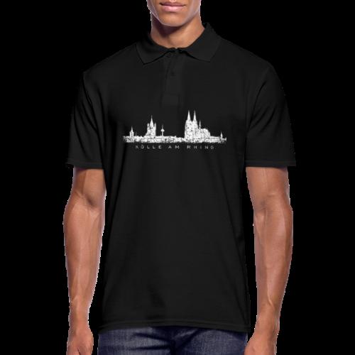 Kölle am Rhing Skyline (Vintage Weiß) Köln am Rhein - Männer Poloshirt