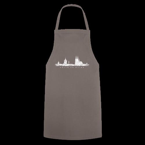 Kölle am Rhing Skyline (Vintage Weiß) Köln am Rhein - Kochschürze
