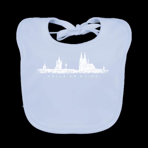 Kölle am Rhing Skyline (Vintage Weiß) Köln am Rhein - Baby Bio-Lätzchen