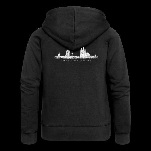 Kölle am Rhing Skyline (Vintage Weiß) Köln am Rhein - Frauen Premium Kapuzenjacke