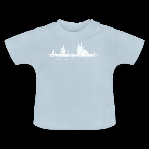 Kölle am Rhing Skyline (Vintage Weiß) Köln am Rhein - Baby T-Shirt