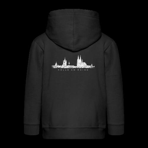 Kölle am Rhing Skyline (Vintage Weiß) Köln am Rhein - Kinder Premium Kapuzenjacke