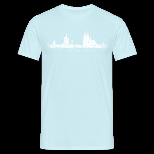 Kölle am Rhing Skyline (Vintage Weiß) Köln am Rhein - Männer T-Shirt