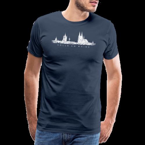 Kölle am Rhing Skyline (Vintage Weiß) Köln am Rhein - Männer Premium T-Shirt