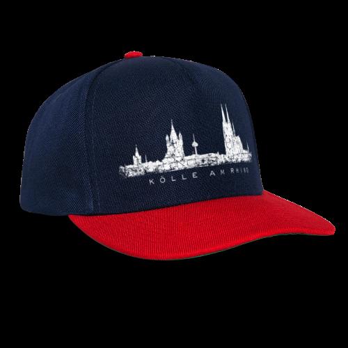 Kölle am Rhing Skyline (Vintage Weiß) Köln am Rhein - Snapback Cap