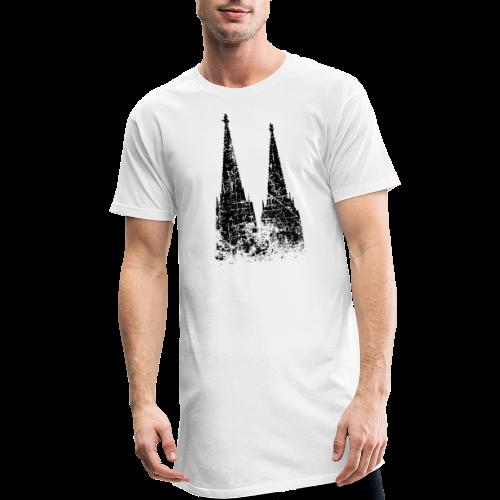 Kölner Dom (Vintage Schwarz) Köln Design - Männer Urban Longshirt