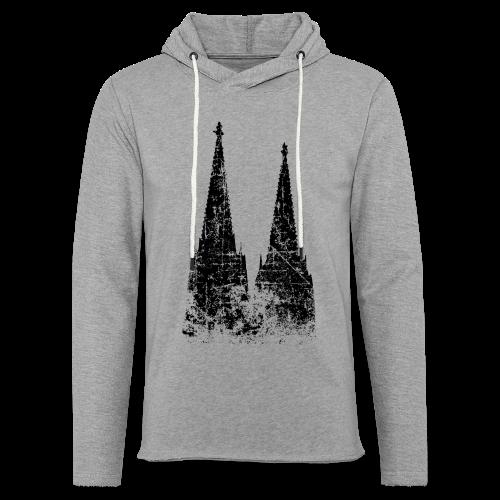Kölner Dom (Vintage Schwarz) Köln Design - Leichtes Kapuzensweatshirt Unisex