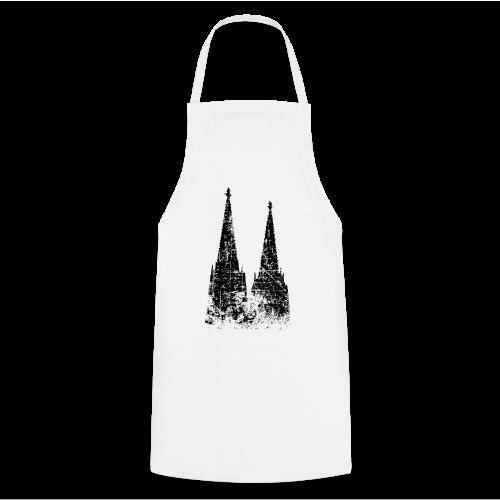 Kölner Dom (Vintage Schwarz) Köln Design - Kochschürze