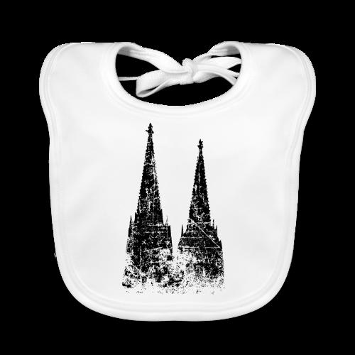 Kölner Dom (Vintage Schwarz) Köln Design - Baby Bio-Lätzchen