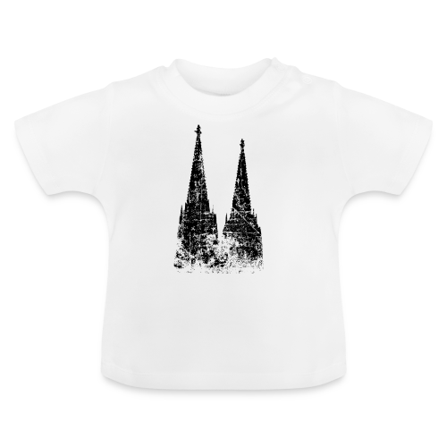 Kölner Dom (Vintage Schwarz) Köln Design - Baby T-Shirt