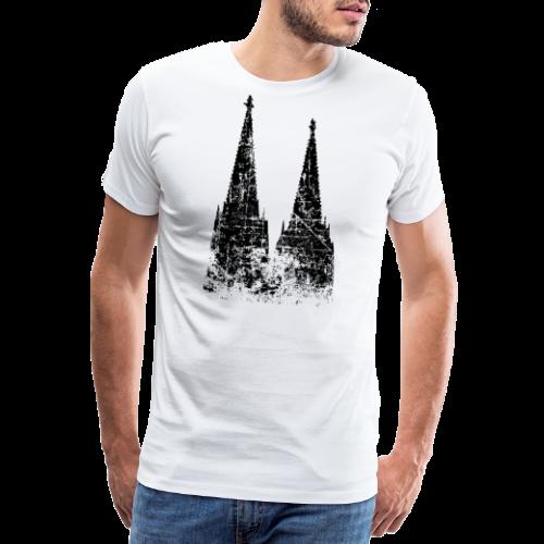 Kölner Dom (Vintage Schwarz) Köln Design - Männer Premium T-Shirt